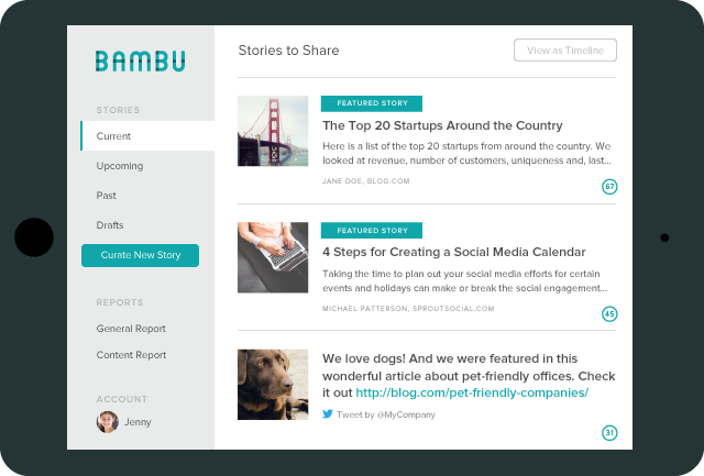 bambu by sprout social ipad current stories