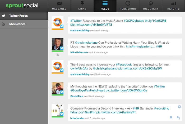 twitter feed content curation example