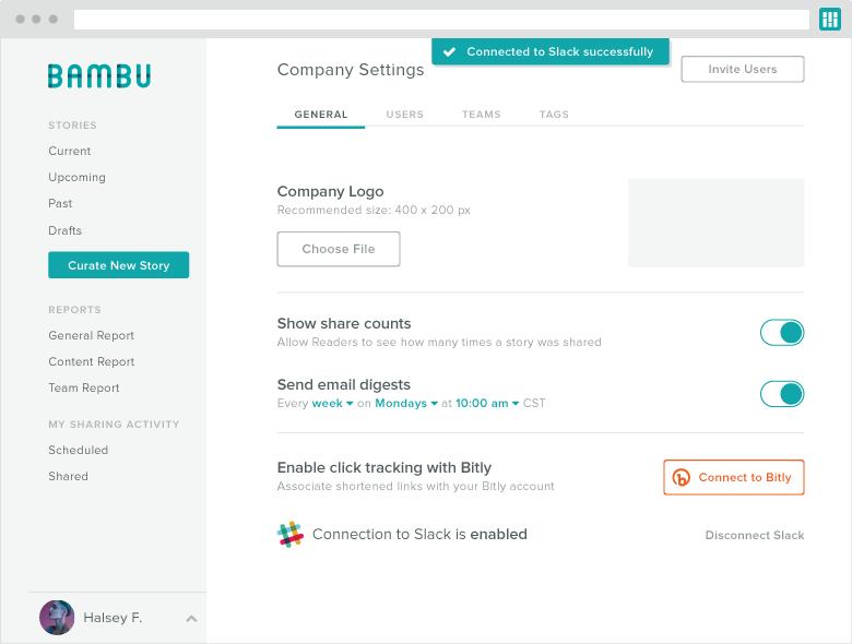 bambu slack integration screenshot